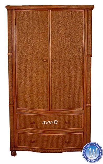 Wicker Armoire Wardrobes With Regard To Popular Wicker Wardrobe Armoires (View 4 of 15)