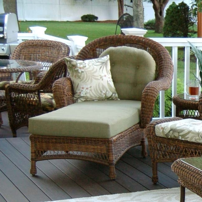 Wicker Chaise Lounge Chairs With Widely Used Classic Coastal Hampton Wicker Chaise Lounge – Wicker (View 10 of 15)