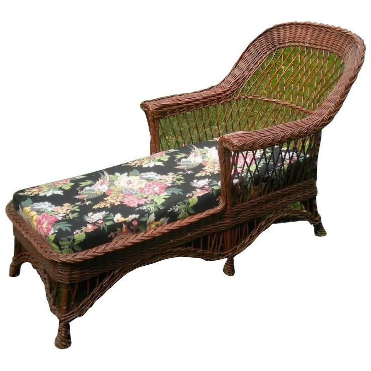 Wicker Chaise Lounges For Current Bar Harbor Wicker Chaise Lounge Circa 1920's Sold (View 11 of 15)