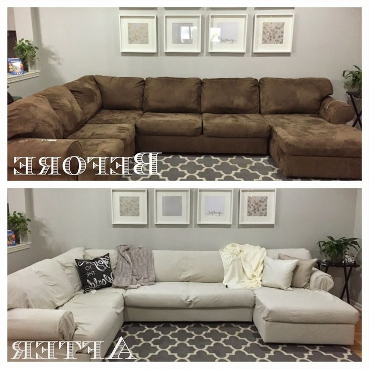 Widely Used Chaise Lounge Sofa Covers Intended For Slipcover For Sectional Sofa Chaise Lounge Sofa Covers Best (View 9 of 15)