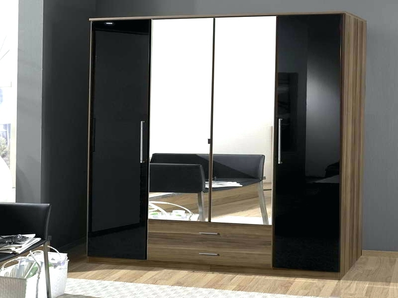 Widely Used Cheap Wardrobes With Mirror Within Wardrobes ~ Cheap Single Black Wardrobes Black Wardrobe With (View 15 of 15)