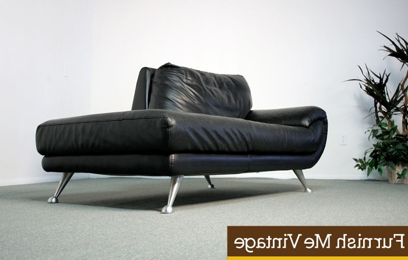 Widely Used Chic Black Leather Chaise Lounge Nicoletti Black Leather Chaise Inside Black Leather Chaise Lounges (View 8 of 15)