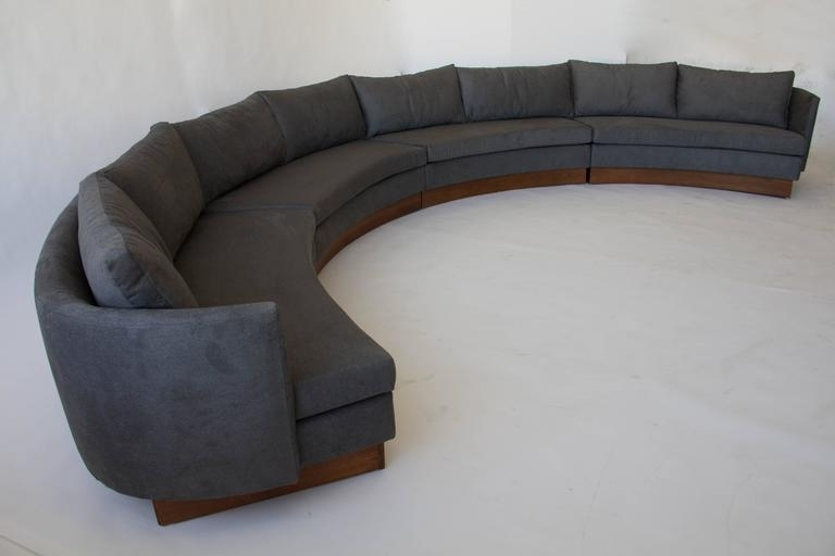 Widely Used Custom Semi Circular Sectionalcarson's Of North Carolina At Throughout North Carolina Sectional Sofas (View 10 of 10)