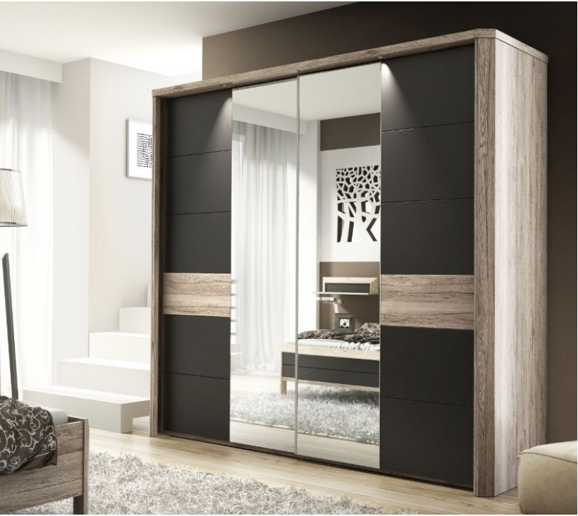 Widely Used Dark Brown Wardrobes With Regard To Brown Wardrobe – Marva Sliding Door Wardrobe Slider (View 8 of 15)