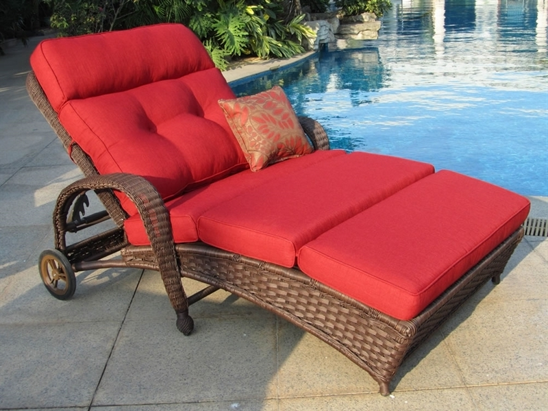 Widely Used Double Chaise Lounge Outdoor Chairs Throughout Gorgeous Outdoor Double Chaise Lounger Outdoor Double Chaise (View 15 of 15)