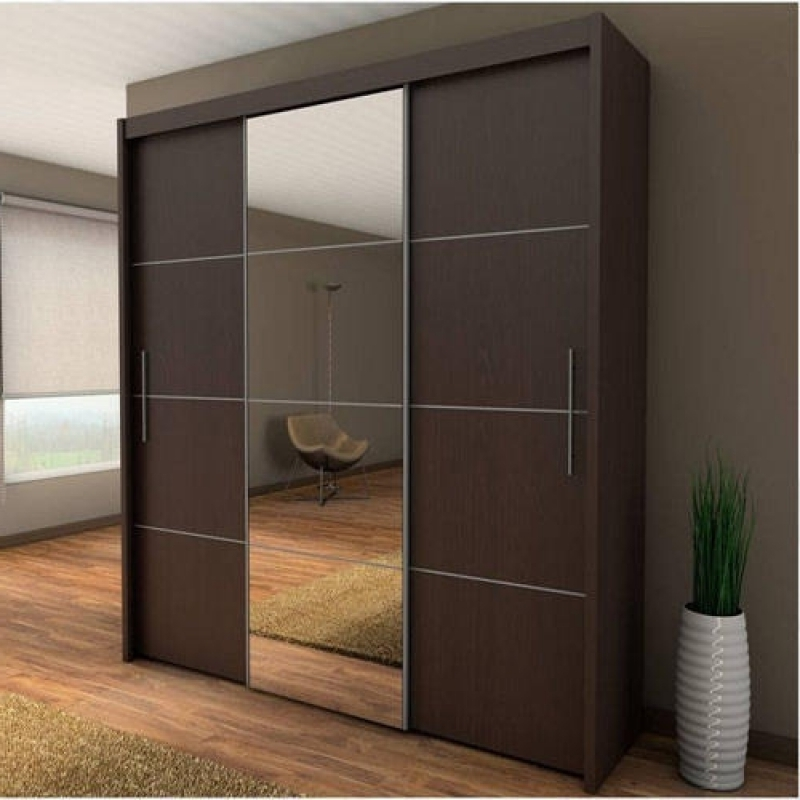 Widely Used Double Wardrobes With Mirror Within Beautiful Double Wardrobes With Sliding Doors Inspirations (View 15 of 15)
