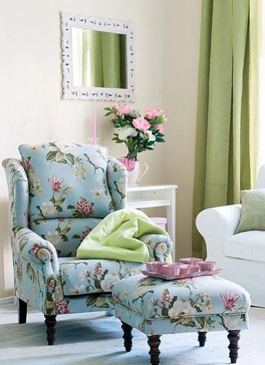 Widely Used Floral Sofas And Chairs With Ręcznie Robiony Fotel Londres Kosztuje 1790 Zł, Za Podnóżek (View 10 of 10)