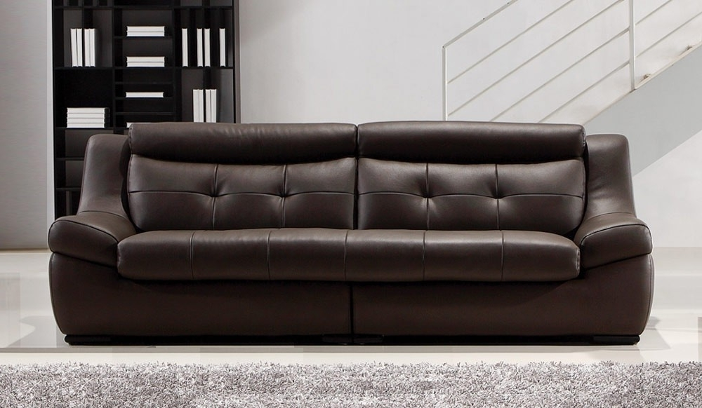 Widely Used Gallina Large Brown Leather Sofa – 4 Seater – Modern Settee For Large 4 Seater Sofas (View 10 of 10)