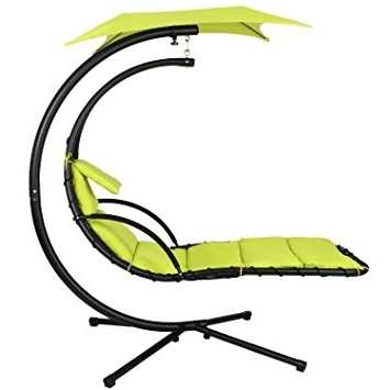 Widely Used Hanging Chaise Lounge Chairs Within Amazon : Ancheer 350Lbs Max Weight Capacity Hanging Chaise (View 15 of 15)
