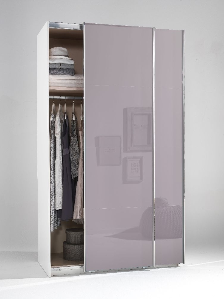 Widely Used High Gloss Sliding Wardrobes Inside Buy Welle Mobel 5 Plus Slider Level 2 Sliding Wardrobe – Lilac (View 15 of 15)