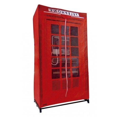 Widely Used London Phone Box Fabric Wardrobe Pertaining To Telephone Box Wardrobes (View 15 of 15)