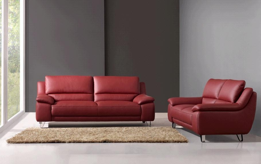 Widely Used Red Leather Couches And Loveseats Regarding Leather Sofas And Loveseats And Elimination F White Leather Sofa (View 10 of 10)