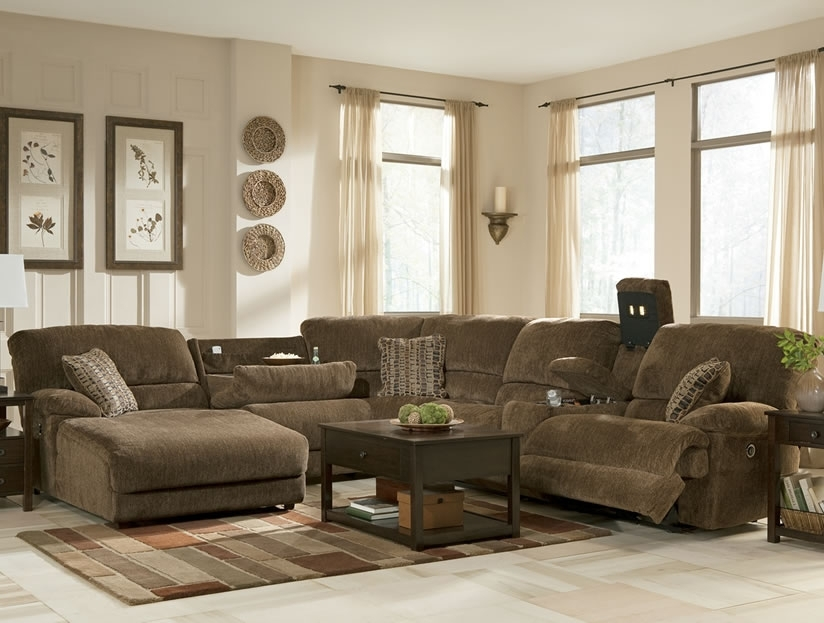 Widely Used Sectional Sofa Design: Sectional Sofas With Recliners And Chaise Within Reclining Sectionals With Chaise (View 11 of 15)