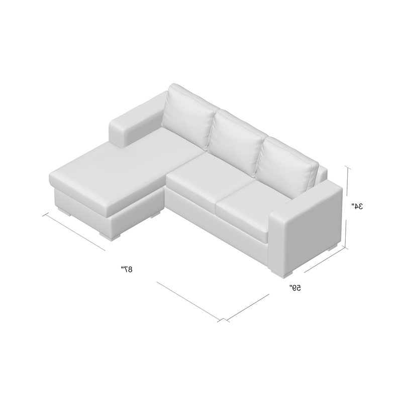 Widely Used Sectionals With Reversible Chaise Pertaining To Mercury Row Osby Chaise Reversible Sectional & Reviews (View 14 of 15)