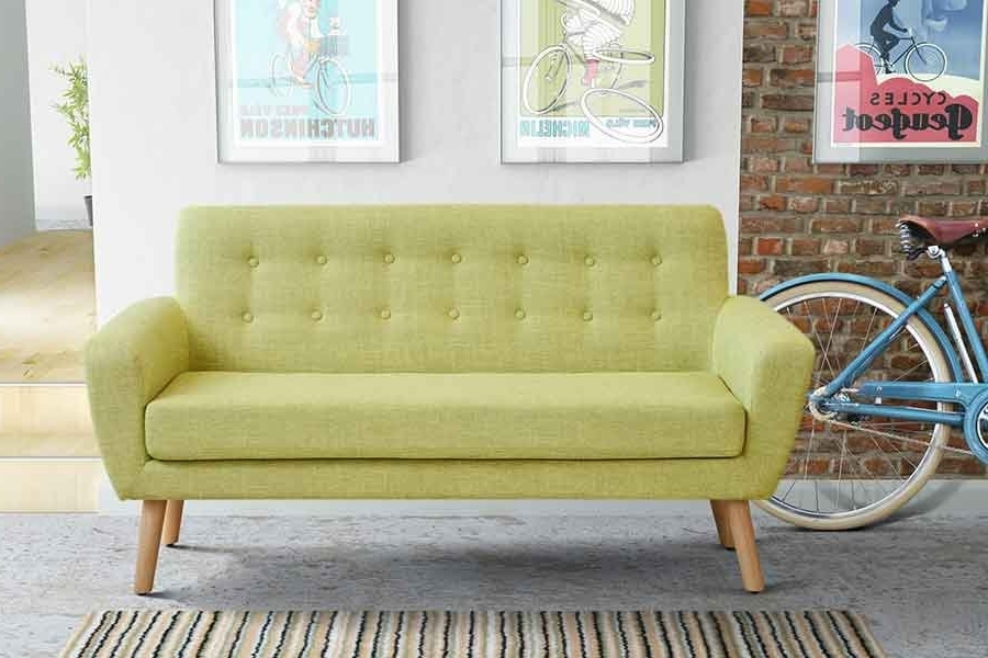 Widely Used Sexton 2 Seat Sofa Retro Green Scandinavian Design Sofa – My Furniture Regarding Retro Sofas And Chairs (View 10 of 10)