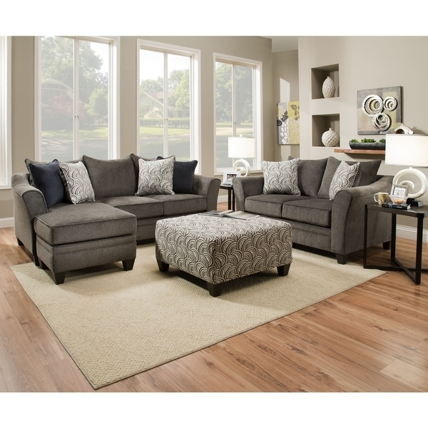Widely Used Simmons Chaise Sofas Pertaining To Simmons Upholstery Albany Pewter Sofa Chaise – Free Shipping Today (View 10 of 10)