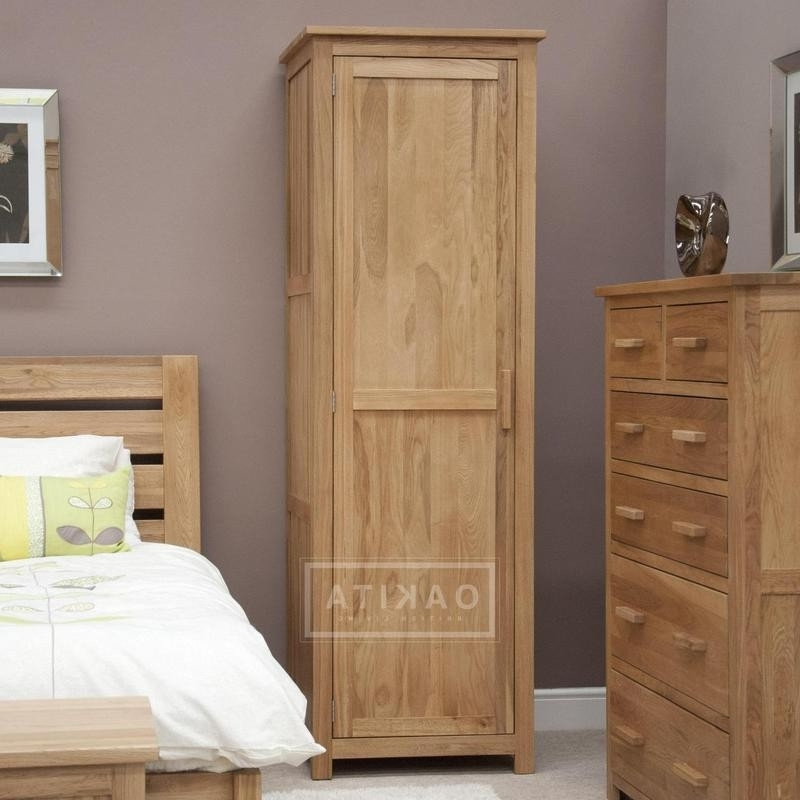 Widely Used Single Wardrobes Inside Edinburgh Solid Oak Single Wardrobe – Oak Wardrobes – Oak (View 15 of 15)
