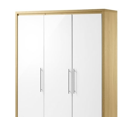 Widely Used Stockholm 3 Door Wardrobe With Julian Bowen Wardrobes (View 5 of 15)