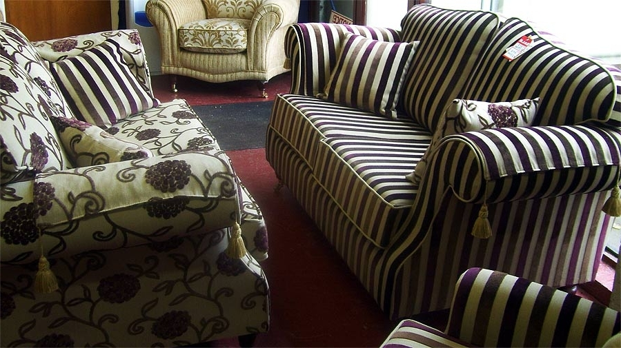 Widely Used Striped Sofas And Chairs With Regard To Furniture Sale (View 10 of 10)