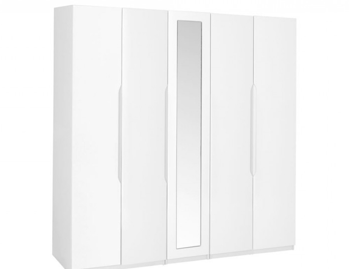 Widely Used Tall White Gloss Wardrobes In 5 Door Tall White High Gloss Wardrobe (View 15 of 15)