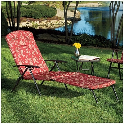 Wilson & Fisher® Folding Padded Chaise Lounge Chair At Big Lots With Widely Used Big Lots Chaise Lounges (View 15 of 15)