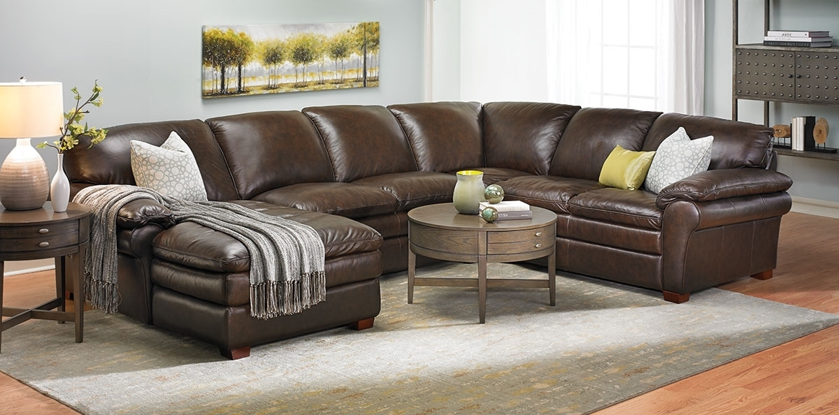 Winfield Leather Sectional Sofa (View 10 of 10)
