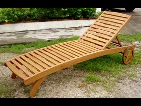 Wood Chaise Lounge Chair~Design Plans For Wood Chaise Lounge Chair Intended For Current Diy Chaise Lounge Chairs (View 14 of 15)