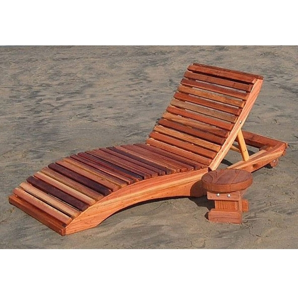 Wood Chaise Lounge Chairs Regarding Most Recently Released Redwood Outdoor Penny's Single Chaise Lounge Chair (View 14 of 15)