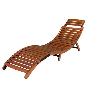 Wood Chaise Lounges Regarding Well Liked Amazon: Best Selling Del Rio Wood Outdoor Chaise Lounge (View 11 of 15)