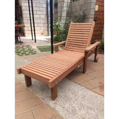 Wood – Outdoor Chaise Lounges – Patio Chairs – The Home Depot In Popular Wood Chaise Lounges (View 6 of 15)