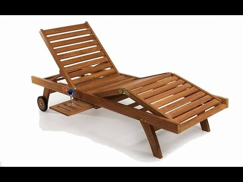 Wooden Chaise Lounges Throughout Preferred Outdoor Chaise Lounge Chairs~Folding Chaise Lounge Chairs Outdoor (View 15 of 15)
