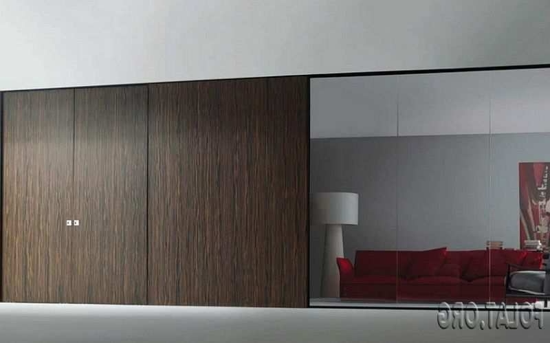 Wooden Sliding Doors For Wardrobes With Dark Color And Combine With Most Recently Released Dark Wood Wardrobes With Sliding Doors (View 15 of 15)