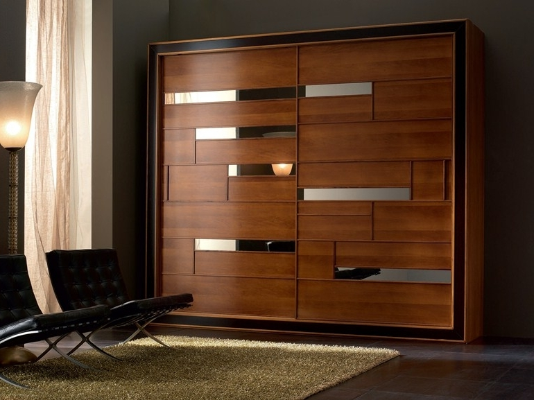 Wooden Wardrobes Inside Most Up To Date Solid Wood Wardrobe With Sliding Doors Elettra Night Collection (View 14 of 15)