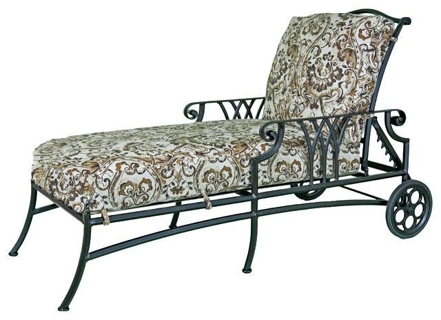 Wrought Iron Chaise Lounge Chairs Wrought Iron Chaise Lounge In Well Liked Wrought Iron Outdoor Chaise Lounge Chairs (View 11 of 15)