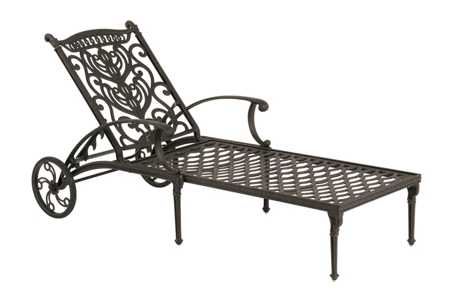 Wrought Iron Outdoor Chaise Lounge Chairs In Most Current Cast Iron Chaise Lounge – Chiefkessler (View 12 of 15)