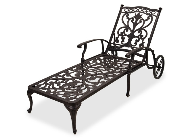 Wrought Iron Outdoor Chaise Lounge Chairs Regarding Preferred Stunning Aluminum Chaise Lounge Outdoor Milan Cast Aluminum Chaise (View 13 of 15)