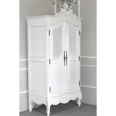 Xv Rattan Double Wardrobe – French White Within Well Known White Rattan Wardrobes (View 15 of 15)