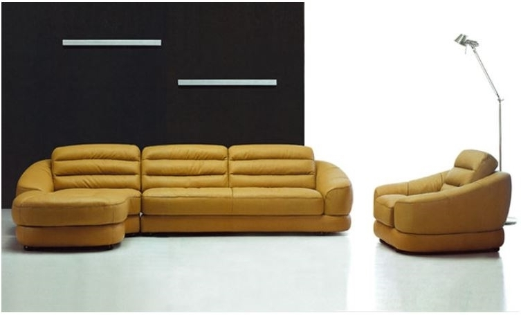 Yellow Leather Sectional (View 15 of 15)