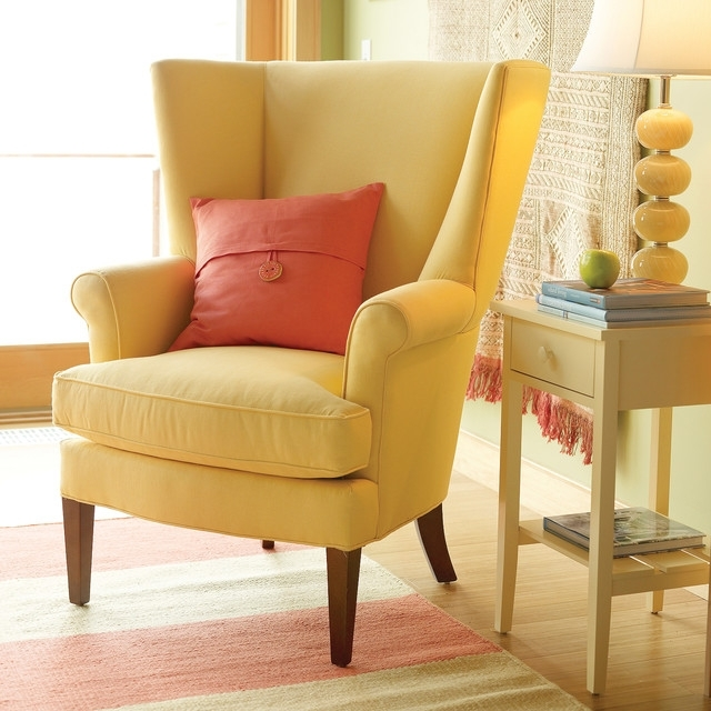 Yellow Sofa Chairs Regarding Newest Furniture (View 10 of 10)