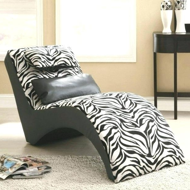 Zebra Chaise Lounge Chair Medium Image For Zebra Print Chaise Inside Recent Zebra Print Chaise Lounge Chairs (View 11 of 15)