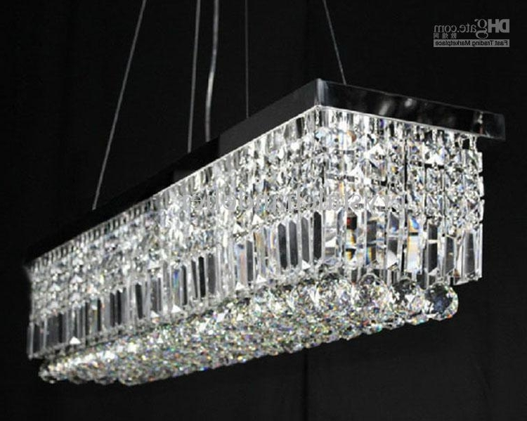 100Cm Modern Contemporary Crystal Pendant Light Ceiling Lamp Modern Pertaining To Most Popular Modern Pendant Chandelier Lighting (View 1 of 10)