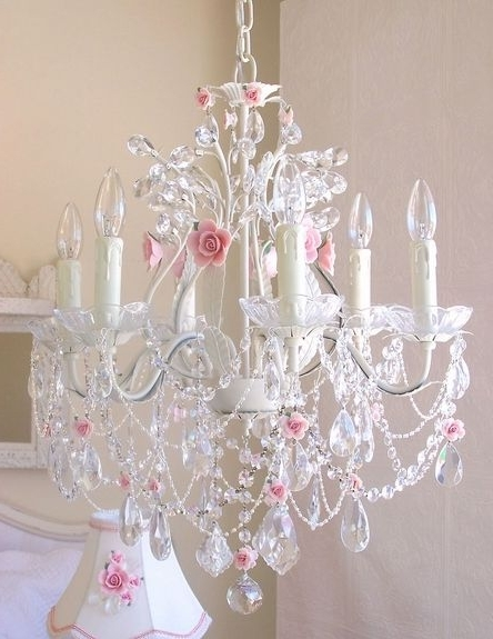 12 Best Chandeliers For The Girls Room Images On Pinterest In Famous Crystal Chandeliers For Baby Girl Room (View 1 of 10)