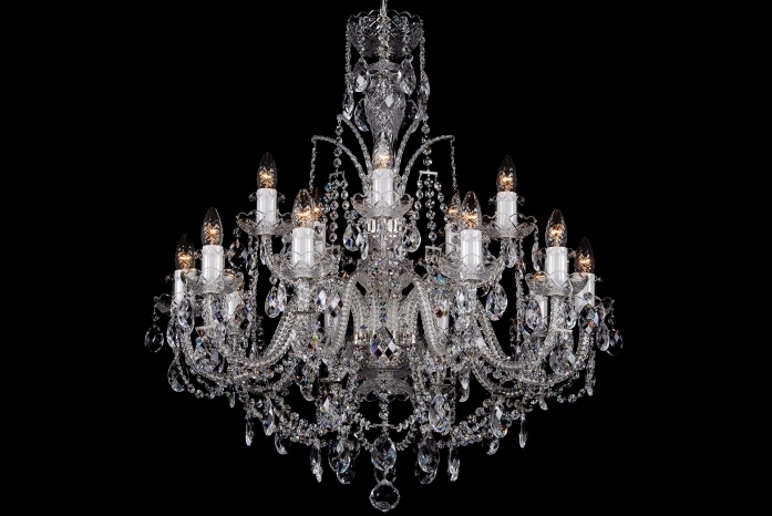 15 Light Classic Georgian Style Chandelier In Silver Clds 15 – The Regarding Most Popular Georgian Chandeliers (View 1 of 10)