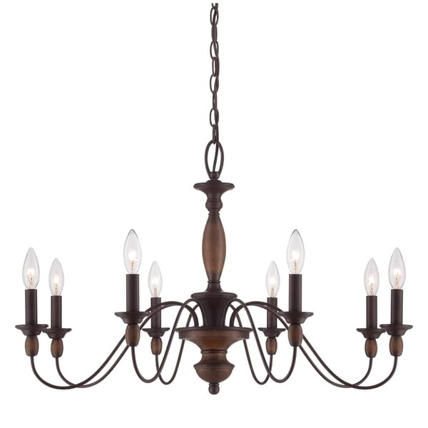 2017 Candle Light Chandelier Within Quoizel 'holbrook' 8 Light Chandelier – Free Shipping Today (View 5 of 10)