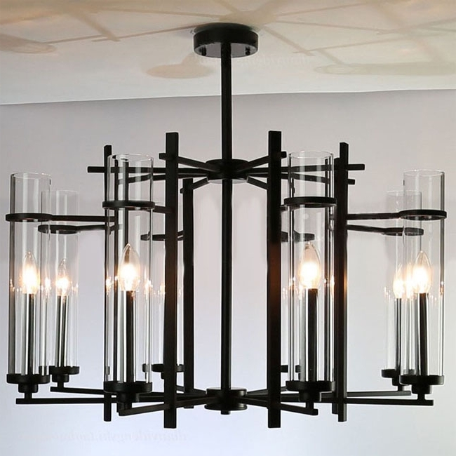 2017 Contemporary Black Chandelier In Chandelier: Interesting Black Modern Chandelier Modern Chandeliers (View 1 of 10)