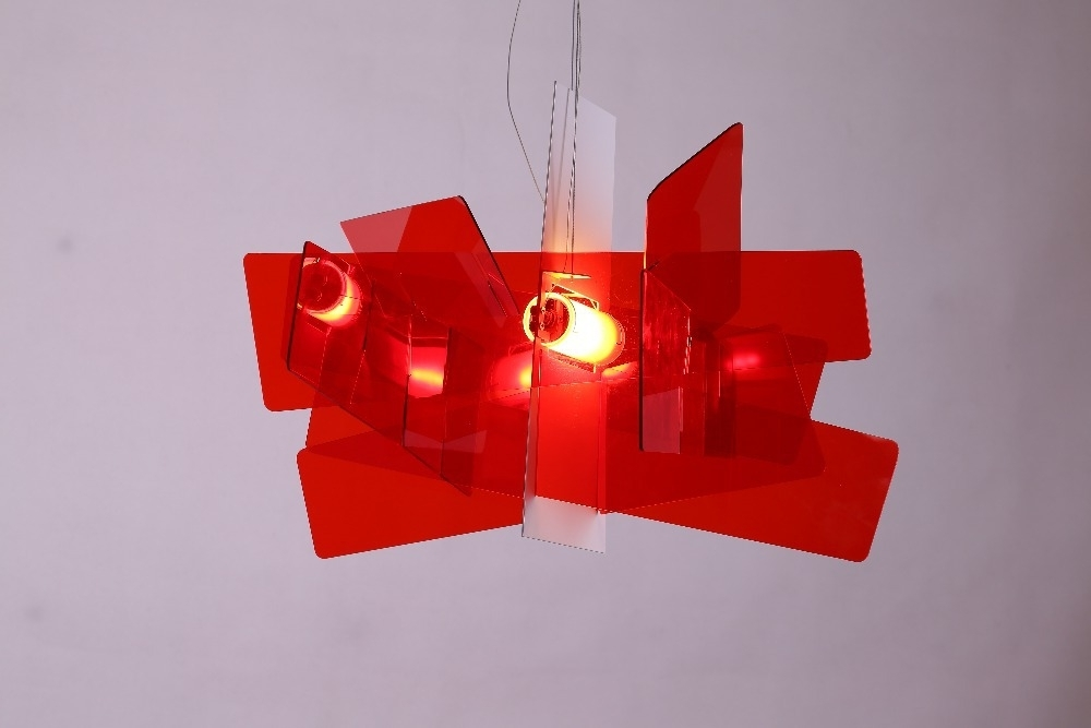 2017 D65Cm/95Cm Modern Foscarini Big Bang Stacking Creative Modern Throughout Modern Red Chandelier (View 1 of 10)