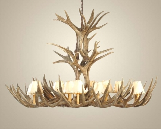 2017 Extra Large Mule Deer Antler Chandelier: Western Passion Within Large Antler Chandelier (View 1 of 10)