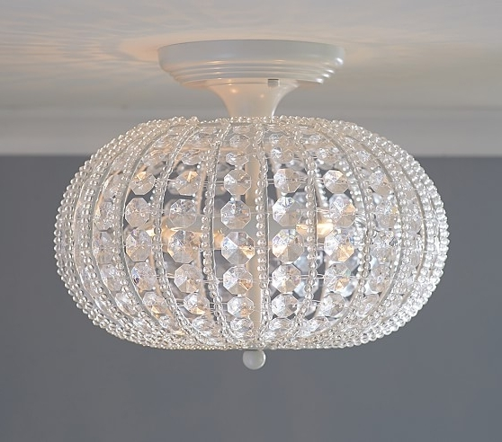 2017 Flush Chandelier Throughout Clear Acrylic Round Flushmount Chandelier (View 1 of 10)