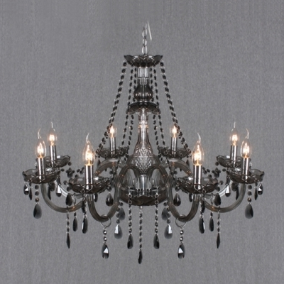 2017 Grey Crystal Chandelier For Warm And Lavish  (View 1 of 10)
