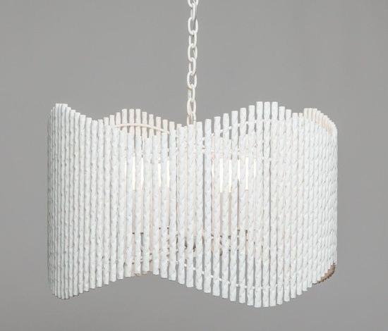 2017 Modern White Plaster Wave Chandelier – Mecox Gardens For Modern White Chandelier (View 1 of 10)